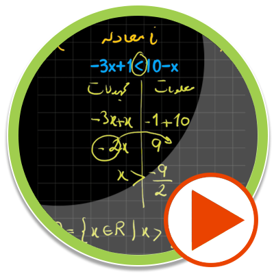 حل چند مثال از نامعادله