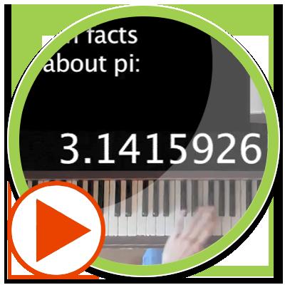 نواختن عدد پی با پیانو